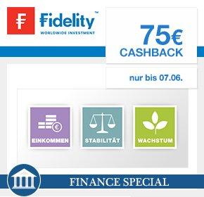 (Fidelity) kostenloses Depot eröffnen und 75 Euro Cashback von Qipu + 50 Euro in Fondsanteilen abgreifen