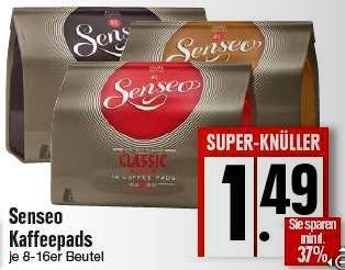 [EDEKA] Senseo Kaffeepads 1,49€