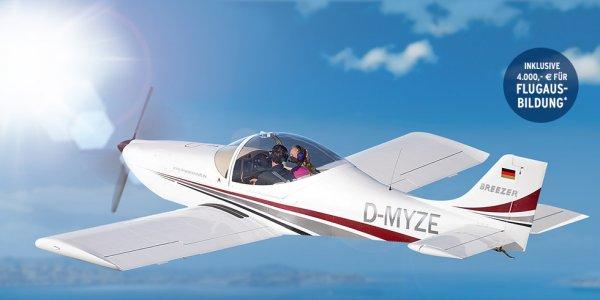 Breezer B400 Ultraleichtflugzeug für 95.000,- € statt 99.000,- € + 4.000,- € für Ihre Flugausbildung ? + 7% Cashback?