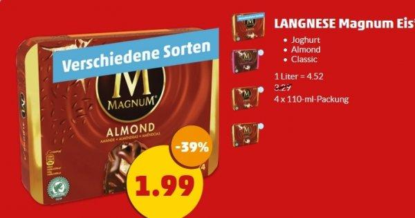 [Penny] Langnese Magnum Eis in verschiedenen Sorten -39%