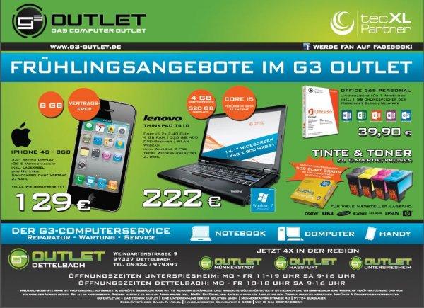 [Lokal Unterfranken] iPhone 4S - 8GB (2. Wahl) 129,- Euro
