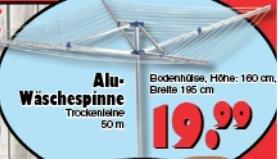 [Lokal@Jawoll] Ab 27.05. Alu Wäschespinne 19,99€, Funny Frisch versch. Sorten 0,99€