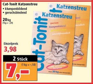 [LOKAL@Thomas Philipps] 2x Cat-Tonit Katzenstreu 20kg