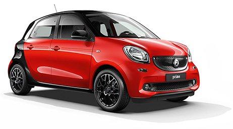 smart forfour prime für 99 Euro/Monat und passion für 89 Euro/Monat leasen