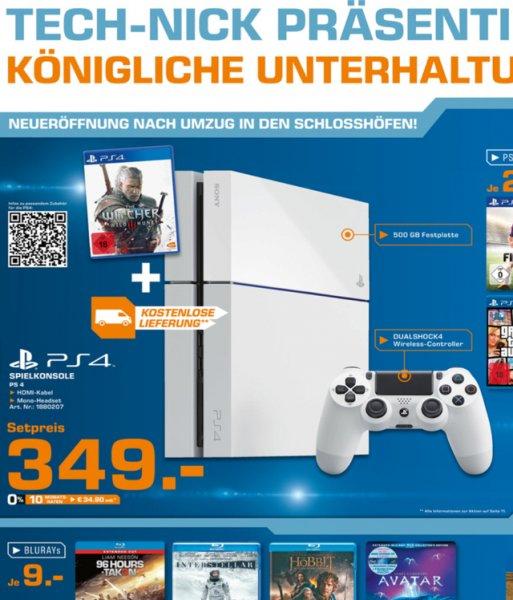 [lokal] Saturn Oldenburg: PS4 weiß + The Witcher 3: Wild Hunt für 349 € und weitere gute Angebote!