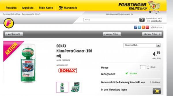 SONAX KlimaPowerCleaner (Forstinger Österreich)