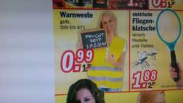 (lokal/regional Verden 27283/Bremen 28199) Zimmermann Warnweste fürs Auto (gelb) 0,99