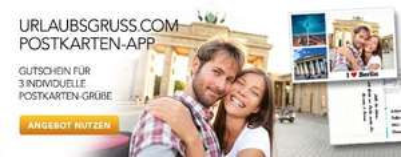 3 Postkarten - Urlaubsgruss.com mit Mastercard
