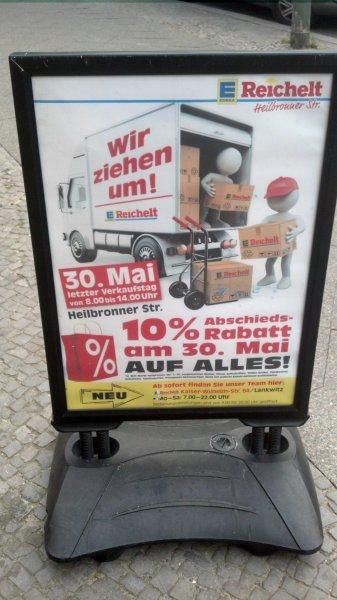 [Lokal - Berlin] 10% auf das gesamte Sortiment bei Reichelt/Edeka