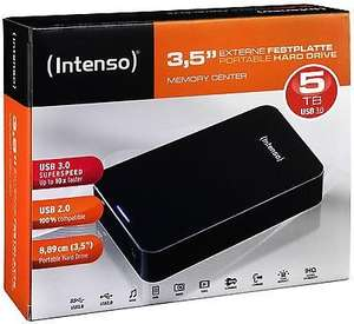 Intenso externe Festplatte Memory Center 3,5 Zoll 5TB USB 3.0  WoW