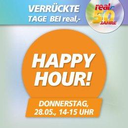 Happy Hour, heute 14-15h, Real 20% auf das gesamte Lego- und Playmobil-Sortiment im Onlineshop + Payback