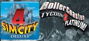 [Steam] Legendary Simulation Bundle (Sim City 4 Deluxe und RollerCoaster Tycoon 3 Platinum)  @MacUpdate