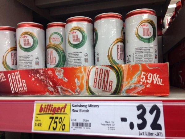 [lokal Berlin Kaufland] Karlsberg Mixery Raw Bomb 0,33l Dose nur 0,32€