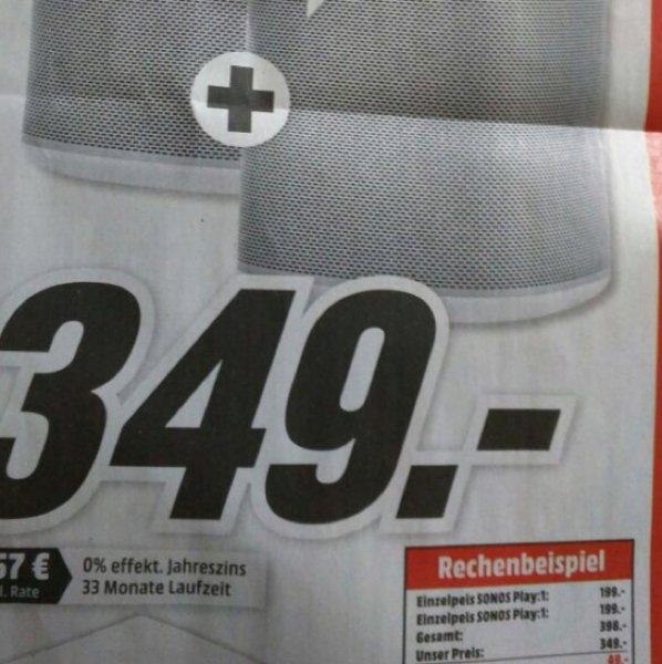 [lokal] MediaMarkt Lüneburg Sonos Play :1 349€