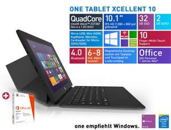 One Tablet xcellent 10 für 169,99 € @One.de