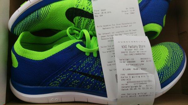 (Nike outlet Bremen ochtum Park) Nike Free 4.0 flyknit für 56€
