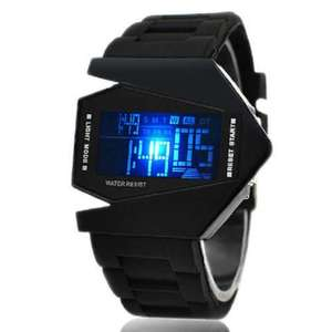 V Edition ,Fliegeruhr Armbanduhr Digital LED Silikon Neu HOTTEST DE