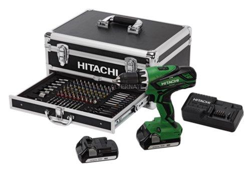 """[ZackZack] Hitachi """"DS 18DJL"""" Akku-Bohrschrauber-Set + Koffer + 100tlg.-Bit-Set"""