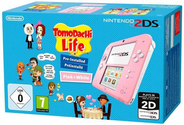 Nintendo 2DS Tomodachi Life Bundle - rosa [Amazon WHD]