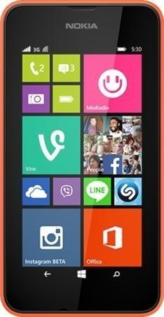 Nokia Lumia 530 Dual-SIM orange + graues Wechselcover + Mini-Lautsprecher - 68,90€ @ Cyberport.de [66€ bei Filialabholung]