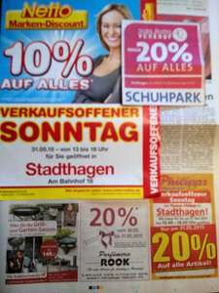 [Lokal, 31655 Stadthagen] 31.05.15: 20 % Rabatt bei Thomas Philipps, SCHUHPARK, Parfümerie ROOK. 10 % bei NETTO Marken-Discount