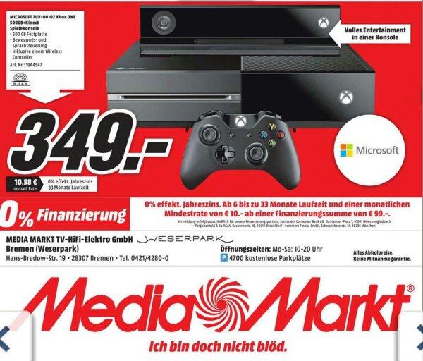 Xbox One + inkl. Kinect 349,-€ / 6 Blu-ray's für 25,-€ u. v. m. im MM Weserpark Bremen (Lokal)