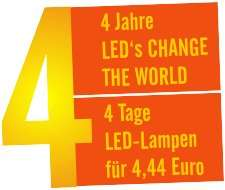 [LCTW] 4 Tage lang alle LED -Lampen zum Preis von 4,44 Euro