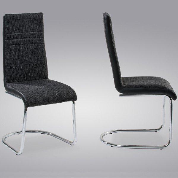 Freischwinger Stuhl Thea von Reality chrom / schwarz für 47,53 EUR (Vergleichspreis: 65€)