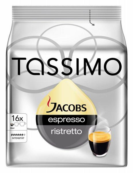 [Amazon Prime] Tassimo Jacobs Espresso Ristretto, 5er Pack (5 x 16 Portionen) ab 13,29€ (im Sparabo)