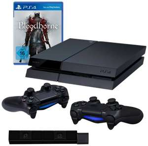 (Amazon.de) Playstation 4 Konsole +  2. Controller + Bloodborne + PS4 Kamera für 399€
