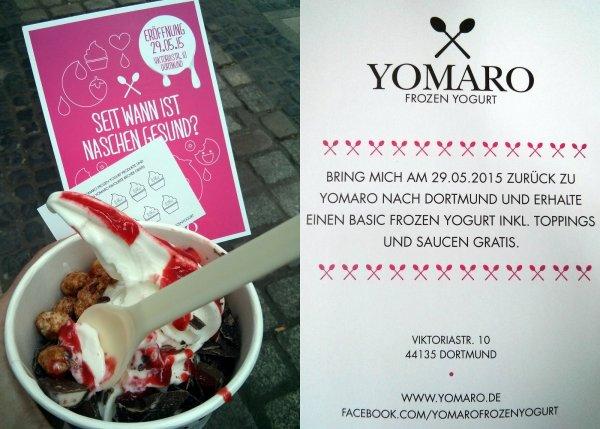 Frozen Yogurt Gratis - YOMARO lokal in Dortmund 29.05.