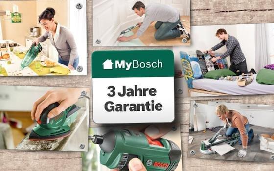 Bosch Garantie Zeit kostenlos auf 3 Jahre verlängern (spätestens 4 Wochen nach dem Kauf registieren)