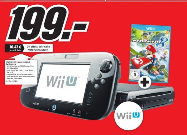 (Lokal MediaMarkt Porta Westfalica)Nintendo Wii U Premium Pack schwarz inkl. Mario Kart 8 (32GB) für 199,-Bestpreis!Angebot noch die ganze nächste Woche gültig!