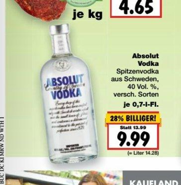 Kaufland (Deutschlandweit?) Absolut Vodka für 9,99€