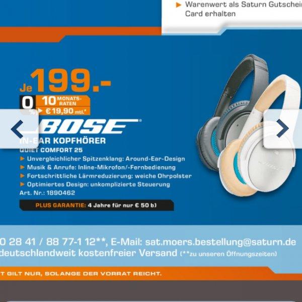 Bose Quiet Comfort 25 199€ kostenloser Versand!