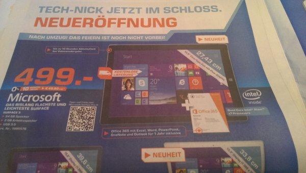 Surface 3 für 499€(Saturn Oldenburg)