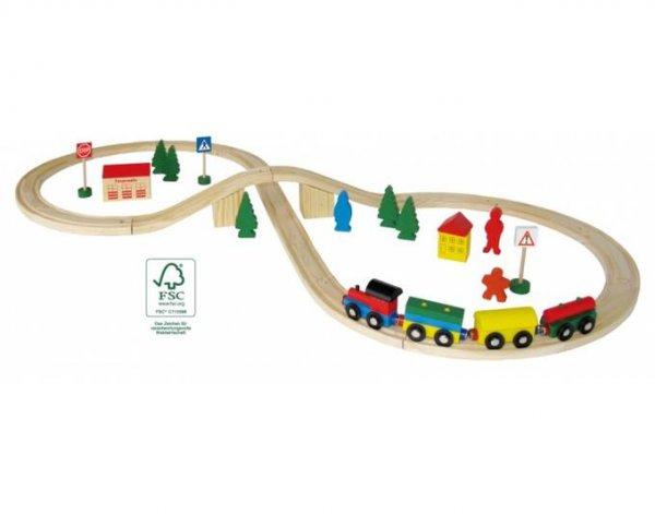 (Allyouneed) Holzeisenbahn 40teilig