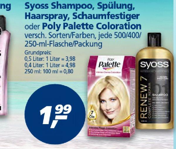 [REAL] SYOSS 2x Shampoo,  Spülung,  Haarspray oder Schaumfestiger für 1,98 EUR (01.-06.06)