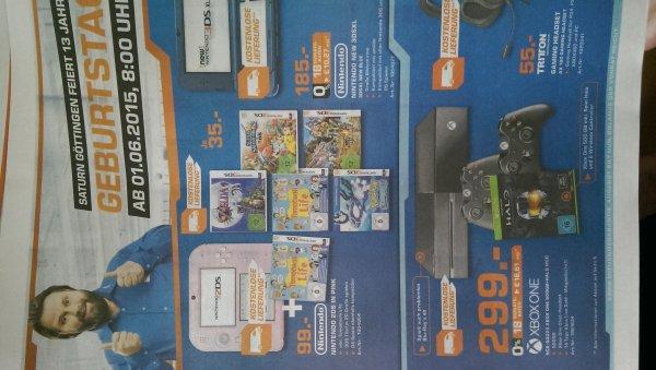 [Lokal Saturn Göttingen] Xbox One 500GB + 2. Controller + Halo Masterchief Collection für 299,-