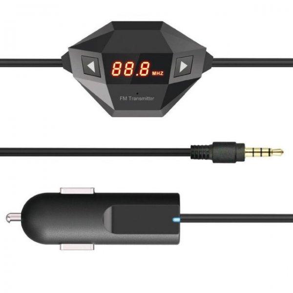 Wireless FM Transmitter mit zusätzlichem USB Anschluss zum laden des Handys