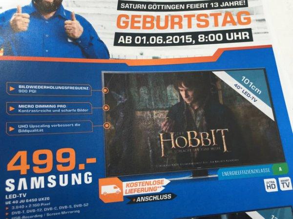 Lokal [Saturn Göttingen] Samsung UE 40 JU 6470 UXZG (4K) UHD