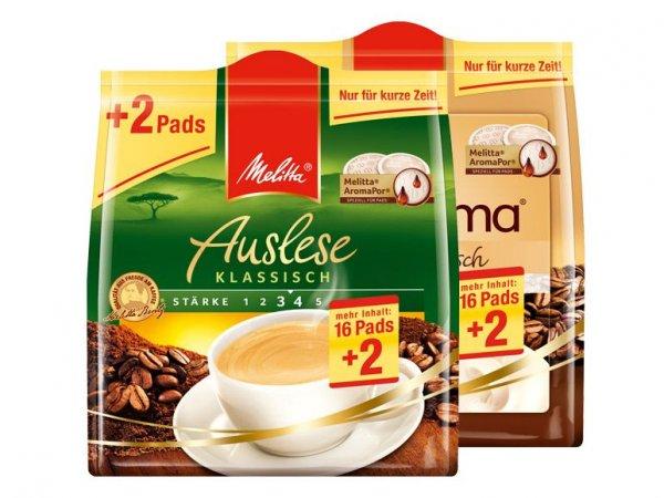 [Lidl] Melitta Kaffee-Pads 16+2 für 1,39 EUR