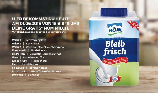 (Lokal Österreich) 0,5 Liter Milch kostenlos