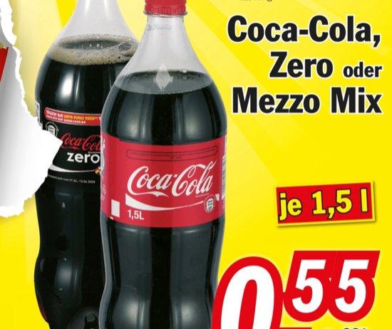 [Lokal Seelze ] Zimmermann Coca Cola, Mezzo Mix, Coca Cola Zero  55 Cent