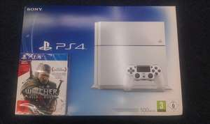 (EBAY Saturn) Sony Playstation 4 (Weiß) + Witcher 3