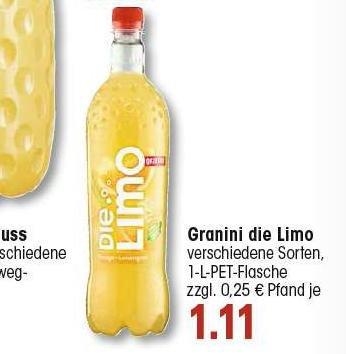 [EDEKA SW] 3x Die Limo (1l Flasche zu effektiv 0,61€) (Scondoo)