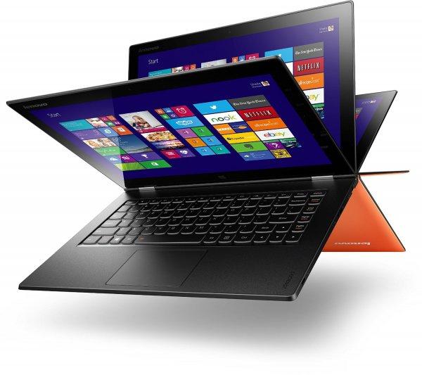 Lenovo Yoga 2 Pro 33,78 cm (13,3 Zoll QHD+ IPS) Convertible Ultrabook (Intel Core i7-4510U, 3,1 GHz, 8GB RAM, 512GB SSD, Intel HD Graphics 4400, Touchscreen Win 8.1) orange 999€ @amazon