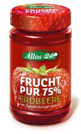 2x GRATIS Allos Frucht Pur 75% Fruchtaufstriche
