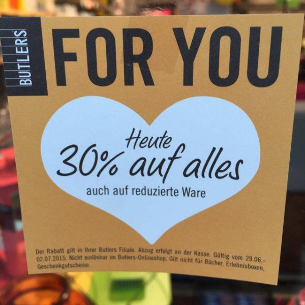 Köln Weiden Center Butlers 30% auf alles