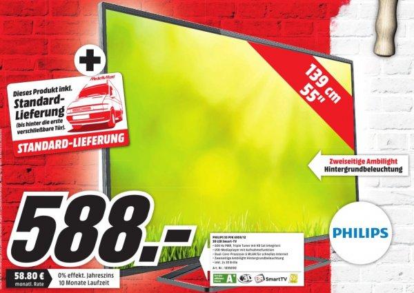 [lokal] Mediamarkt Sulzbach/MTZ: Philips 55 PFK6959 LED TV für 588 € inkl. Lieferung (Neueröffnung nach Umbau)